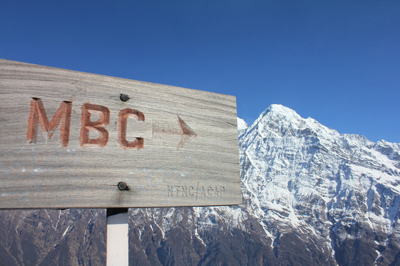 Mardi Himal Base Camp sign