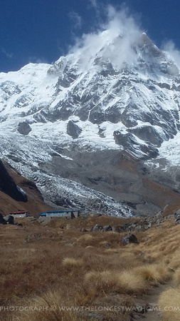 Trekking route into Annapurna Base Camp
