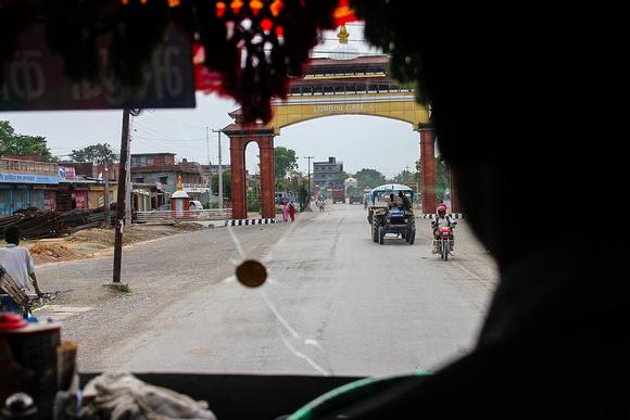Bus into Lumbini