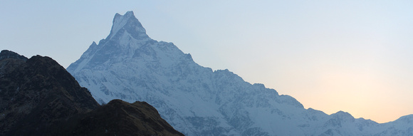 sunset on Mardi Himal
