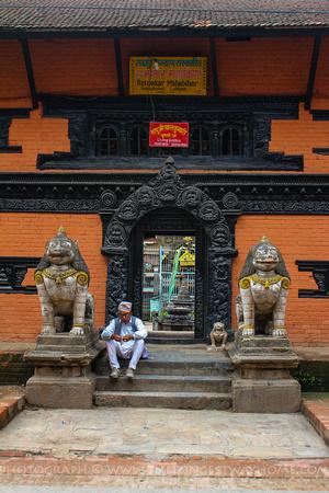 Entrance to the Patan Kumari's residence
