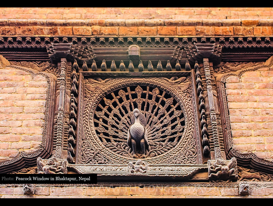 Peacock Window in Bhaktapur Nepal