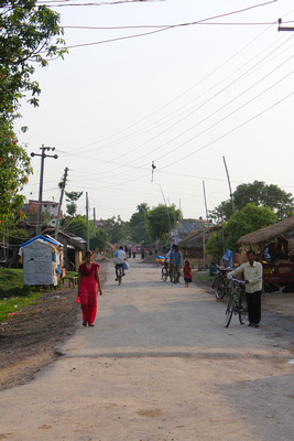 Behind Lumbini town