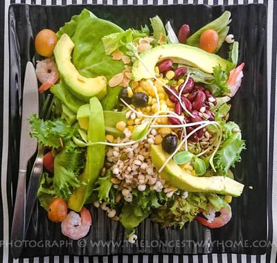 Avocado salad in Thailand