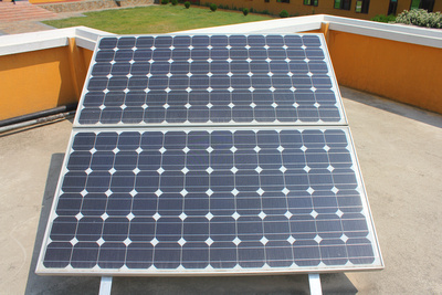 Electronic solar panels in Nepal
