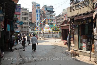 The white Thahiti Supa, Kathmandu