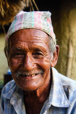 Old man in Lumbini
