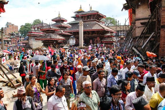 Crowds at Indra Jatra