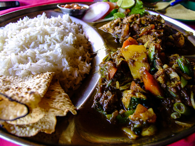 Watery plate of mutton curry