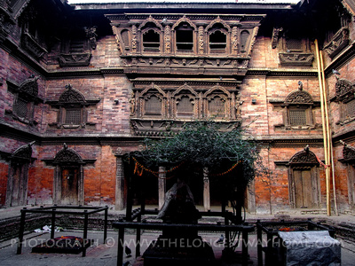 Courtyard in Kumari Hourse in Nepal