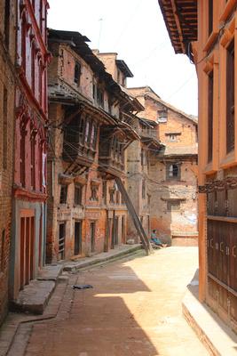 Old quiet street in Bhaktapur