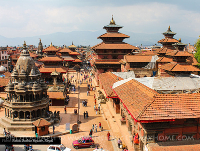 Rooftops over Patan Durbar Square