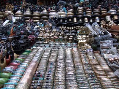 Typical souvenir stall in Kathmandu Nepal