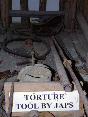 Torture device used my the Japanese in Penang Malaysia