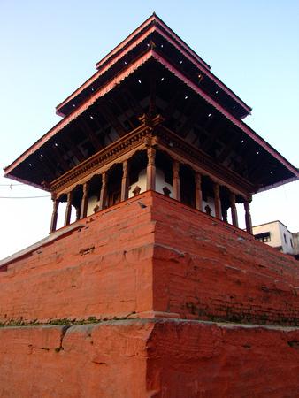 Sunlight and the temples are still empty, are rare sight in Durba Square