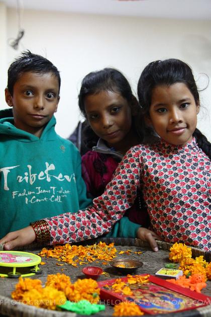 Children during Tihar