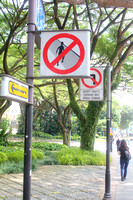 Sign boards in Singapore City