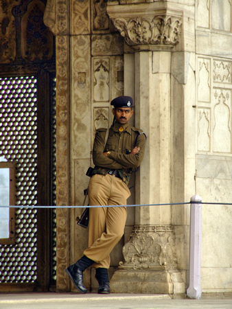 Indian Guard at the Red Fort