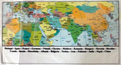 overland travel map