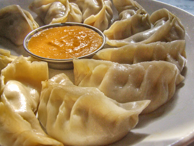 Close up of Momos from Nepal