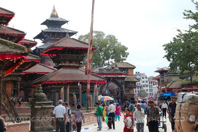 People in Kathmandu Durbar Square Nepal