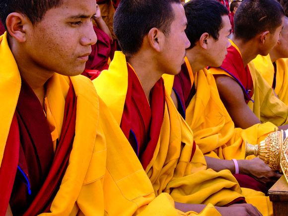 Monks watching on