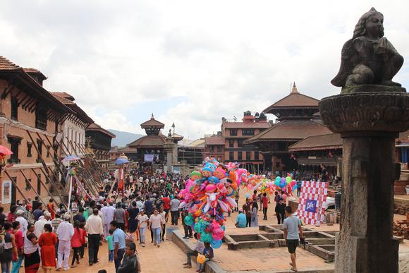 Gai Jatra festival in Bhaktapur Durbar Square
