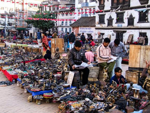 Souvenir Market in Kathmandu Nepal