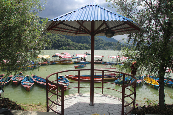 Sheltered area along Lakeside in Pokhara