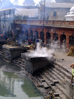 Cremations at Pashupatinath Nepal