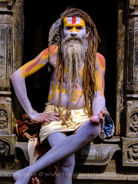 A sadhu holy man in Nepal