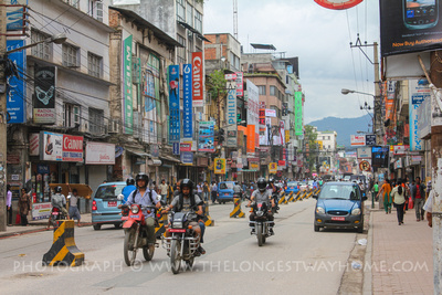 Traffic in Kathmandu city