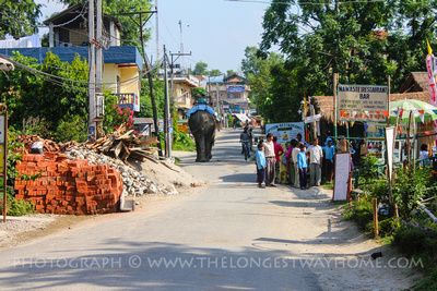 Sauraha's one road
