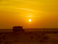 Sunset travel in Pakistan