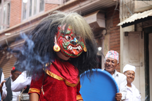 The mischievous Lakhey makes an appearance during Gai Jatra