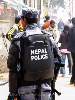 Riot police in Nepal ready for trouble