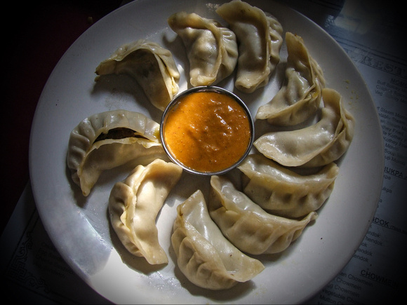 A plate of Nepalese Momos