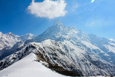 Machhapuchhre along the top ridge on the way to base camp via Mardi Himal trek