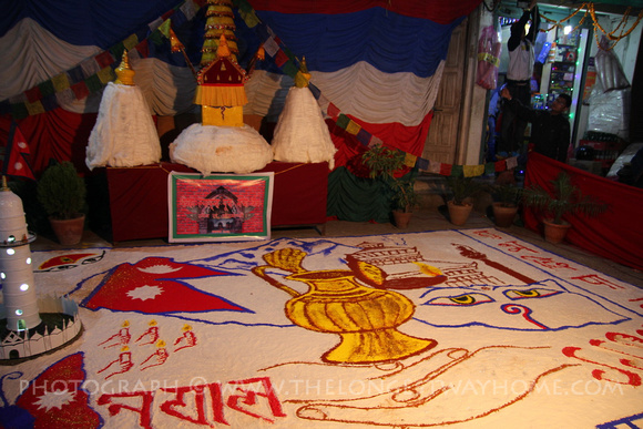 Newari display to welcome in the new year