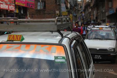 Local Suzuki Taxis in Kathmandu
