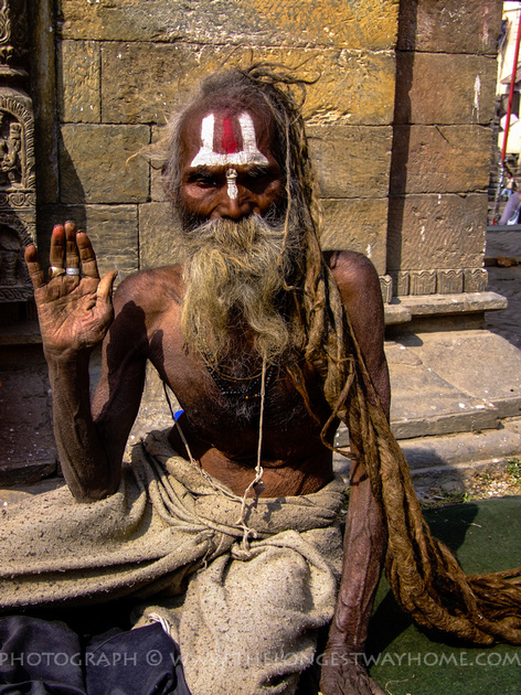 A ninety plus year old Sadhu
