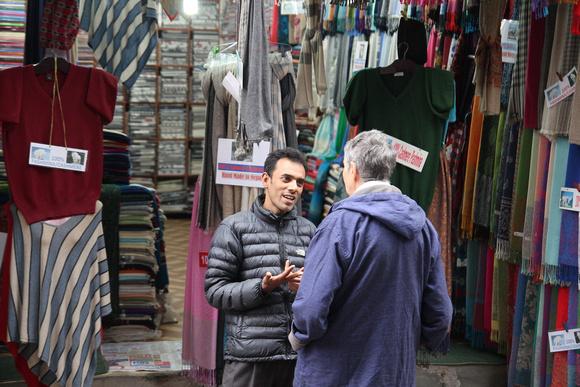 Pashmina salesman in Thamel
