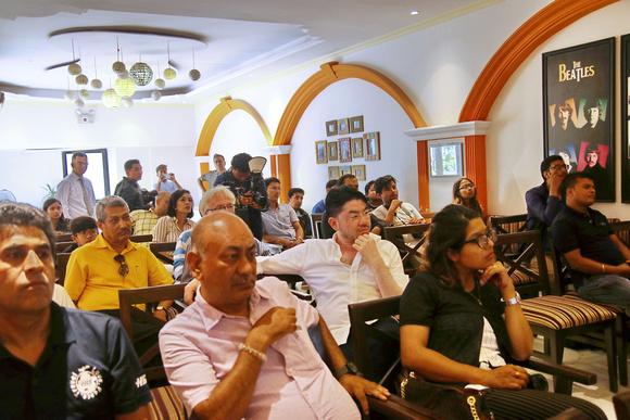 Nepal Tourism Boards Sarad Pradhan & Subhasini Shresta alongside Rajan Shakya and other attendees