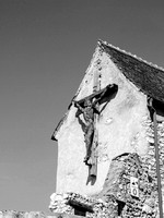 Cruxifix on a Romanian Castle wall