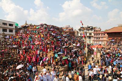 Indra Jatra celebration in Kathmandu