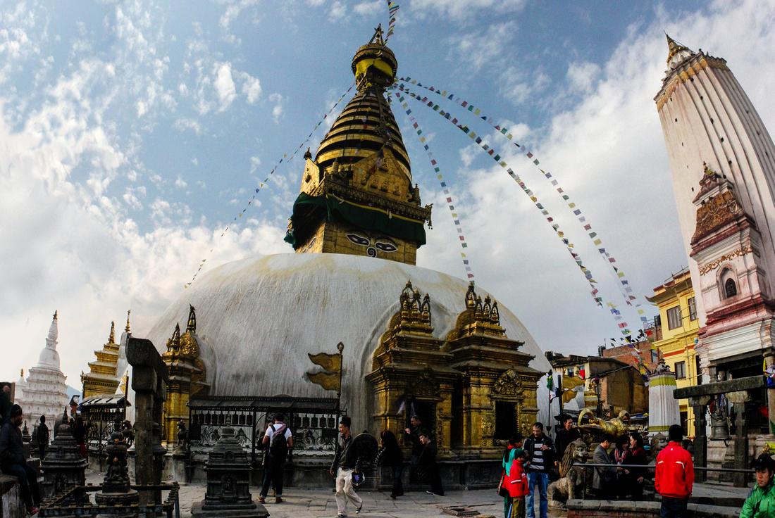 impressive Swayambhunath Stupa in Kathmandu Nepal