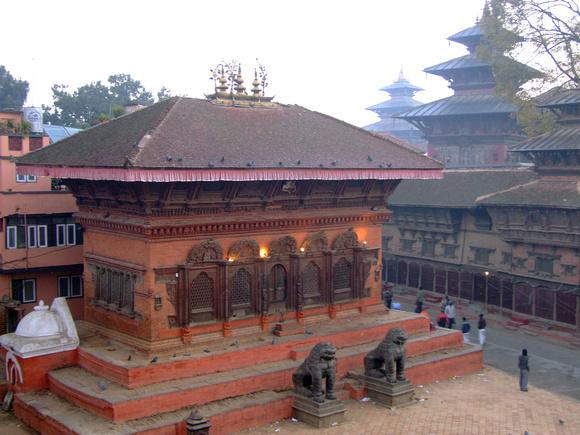 Kathmandu durbar square without crowds