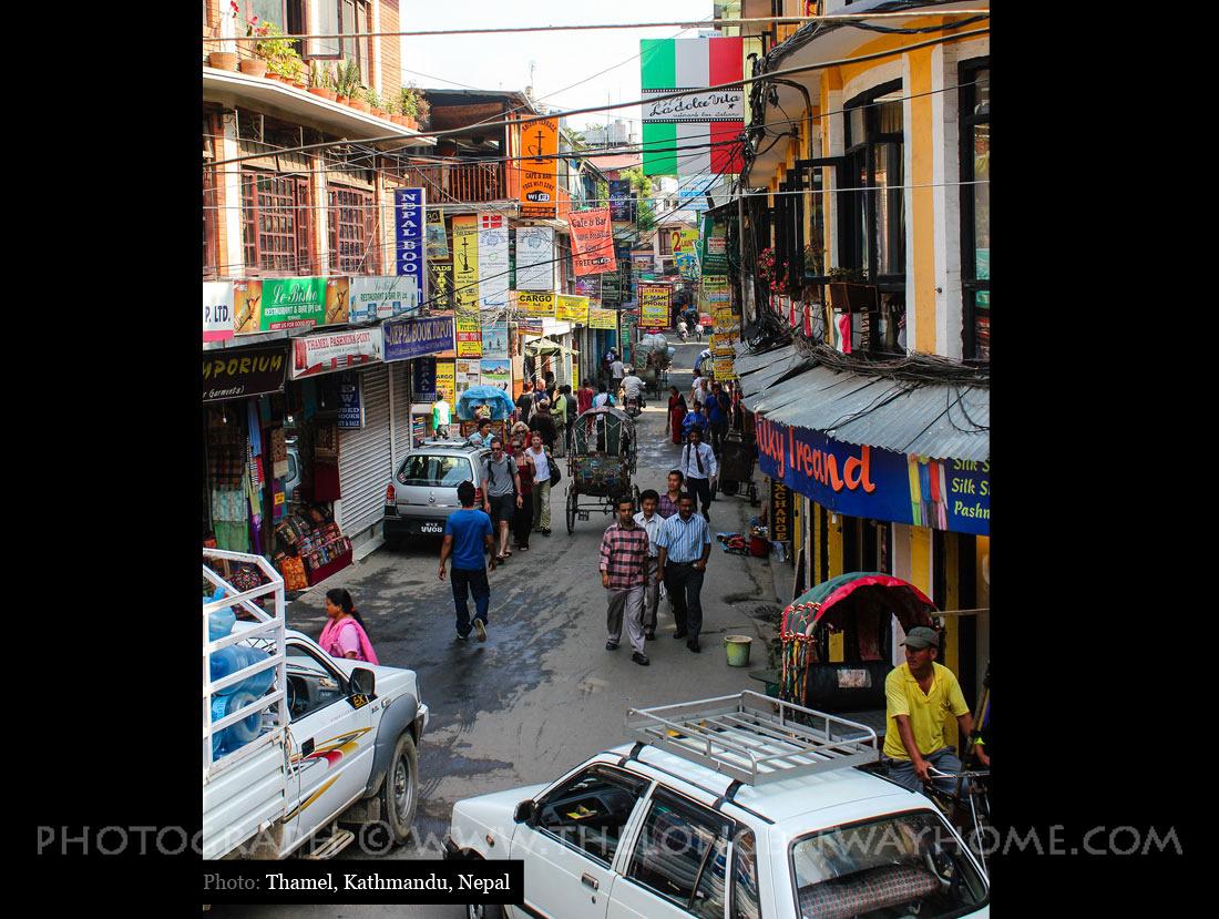 Street in Thamel Kathmandu
