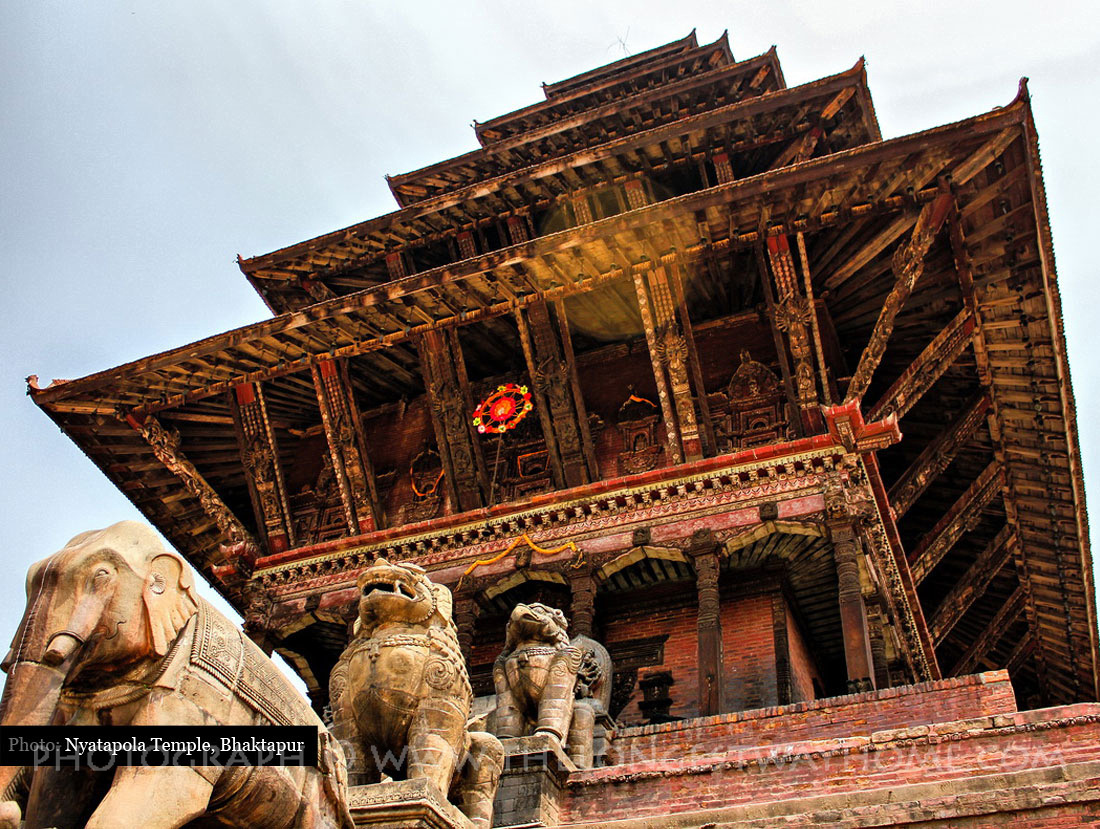 Nyatapola Temple in Bhaktapur Nepal