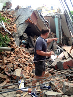 Kathmandu in ruins
